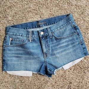 Level 99 Cut Off Distressed Jean Shorts